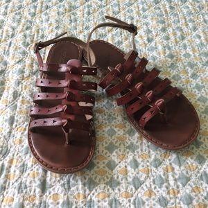 American Eagle Leather Gladiator Sandals